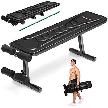 ✅𝗧𝗿𝗲̀𝘀 𝗽𝗿𝗮𝘁𝗶𝗾𝘂𝗲: le banc de musculation plat offre des possibilités presque illimitées lors de l'entraînement : parfait aussi comme banc de musculation pour le ventre et le dos, ainsi que pour les pompes, les développés couchés, les jambes et les cur...