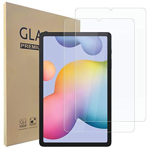 Hianjoo 2 Piezas Pantalla Protector Compatible con Samsung Galaxy Tab S6 Lite 2020, Premium Cristal Tablet Salvapantallas Vidrio Templado para SM-P610N/P615[9H Dureza][Alta Claridad][Sin Burbujas]