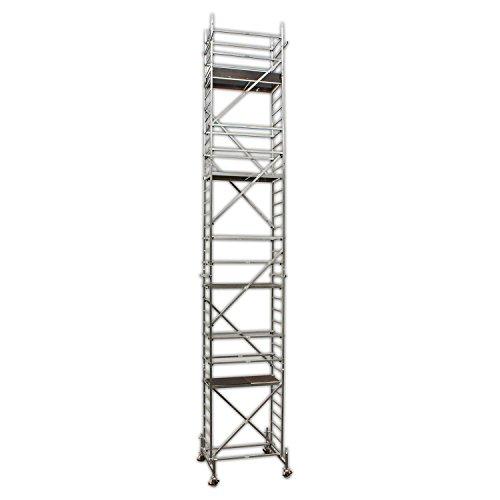 ALTEC Rollfix 1000, Arbeitshöhe 10 m neu, inkl. höhenverstellbarer Rollen (Ø 150 mm), Traverse und Wandanker,