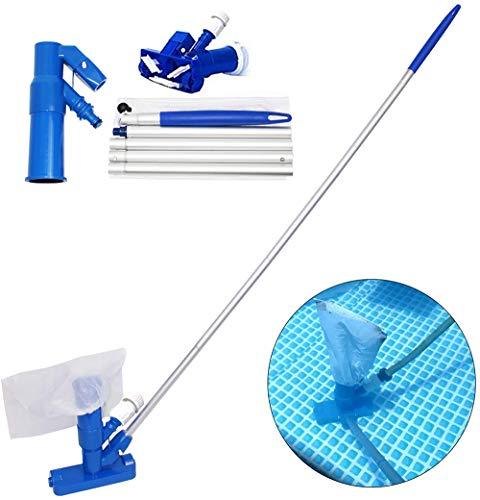 MANRS - Aspirador para piscinas, con bolsa y poste, ideal para hidromasajes, fuentes, SPA, estanques, aspiradora de mano