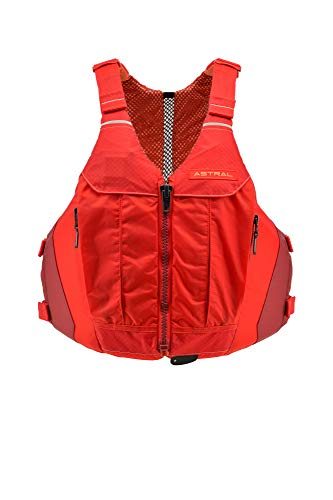 Astral Women's Linda Life Jacket PFD for Recreational Fishing and Touring Kayaking, Cherry Red, L/XL