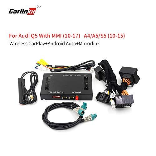 Carlinkit Wireless Carplay Android Nachrüstsatz für Audi 2010-2015 A4 A5/2010-2017 Q5/2009-2011 A6/2009-2016 S4/2013-2017 S5, (6,5-Zoll-Bildschirm Nicht unterstützt)