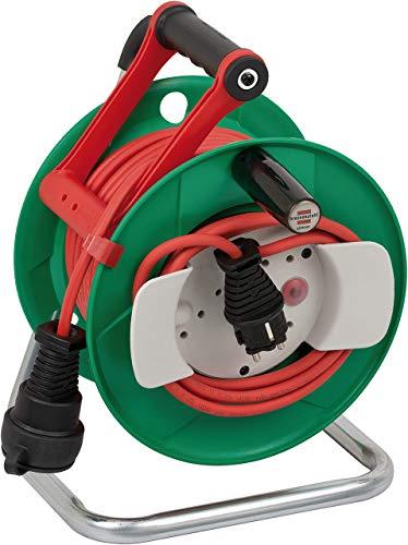 Brennenstuhl Garant G IP44 Gartenkabeltrommel (Kabeltrommel für Rasenmäher mit 23+2m Kabel in rot, Spezialkunststoff, kurzfristiger Einsatz im Außenbereich, Made in Germany)