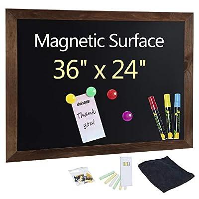 Unistyle Wood Framed Chalkboard for Wall 36x24inch Large Framed Decorative Chalkboard Sign Easy to Erase,Chalk Boards with Wood Frame,Hanging Chalkboard for Kitchen Decor, Weddings, Restaurant Menus