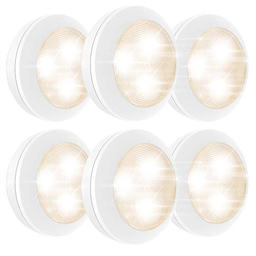LUXSWAY Under-Counter Light with Battery Operated,Set of 6...