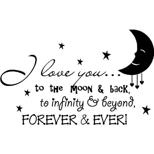 Amazoncom 32x20 I Love You To The Moon And Back To Infinity
