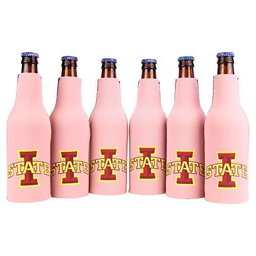 Kolder NCAA Collegiate Neoprenflaschen, 6 Stück, Unisex, Iowa State Cyclones (Pink Bottle)
