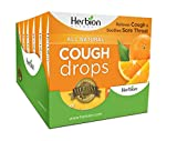 Herbion Naturals Cough Drops with Orange Flavor – 18 Ct – Oral Anesthetic - Relieves Cough - Soothes Sore Throat & Dry Mouth – Eases Bronchial Irritation - For Adults, Children 6 and above | pack of 6
