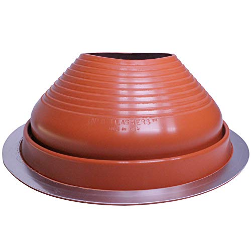 """Flashers #8 Silicone High Temp Flexible Roof Jack Pipe Boot Metal Roofing Pipe Flashing (Pipe OD 7"""" to 13"""") - 100% Made in The USA"""