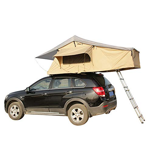 Car Roof Tent Pop Universal Hydraulic Boost Accommodating 2-3 People for Traveling Touring Weekend Adventurer Jeep Vehicle Truck