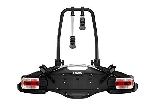 Thule VeloCompact 2 7-pin, portabici con gancio di traino leggero e compatto per l'uso quotidiano (per 2 biciclette).