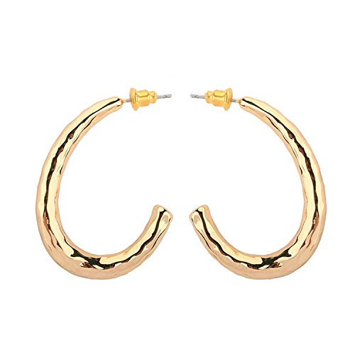 TIANYOU Novedad Jewelrygold Plated Mujer Stud Pendientes Oveja Cuerno 40Mm