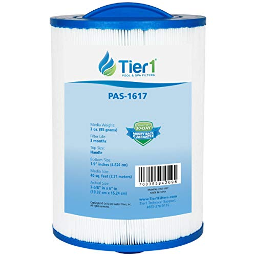 Tier1 Pool & Spa Filter Replacement for Waterways 817-0050, Front Access Skimmer, PWW50, Filbur FC-0359, Unicel 6CH-940 - Pleated Water Filter to Reduce Water Contaminants -  PAS-1617