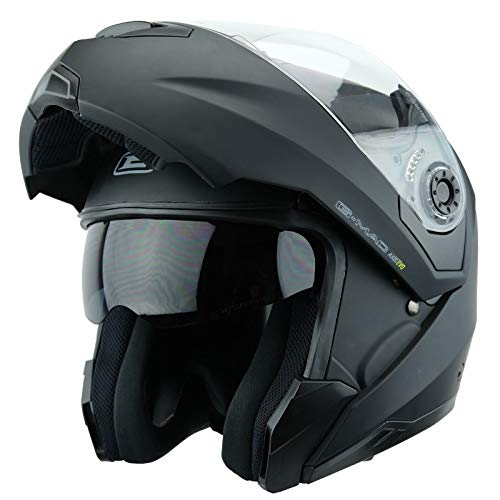 G-MAC Axis Evo Flip Front Up Motorcycle Helmet - Satin Black (XL)