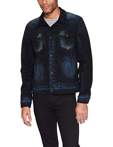 True Religion Herren Dylan Denim Jacket Jeansjacke, Blaue Blaze, XX-Large