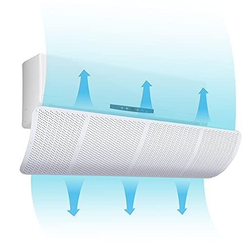 Deflector de aire acondicionado universal, aire acondicionado, deflector de viento, desviador de aire acondicionado, blanco, 27 x 90 cm