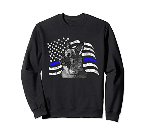 Thin Blue Line Police K9 Gift for German Shepard Lovers Sweatshirt