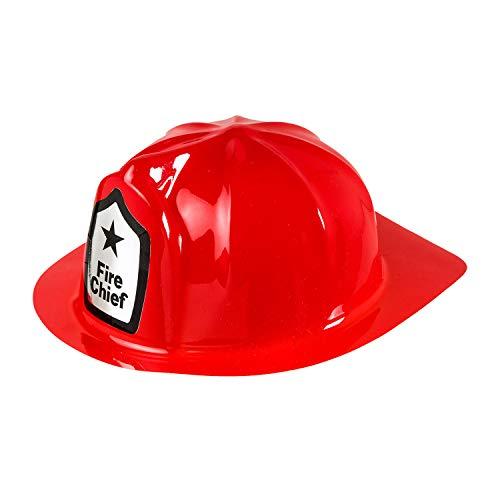 Widmann 2862A - Feuerwehr Hut für Erwachsene, aus PVC, FFW, Beruf, Mottoparty, Karneval