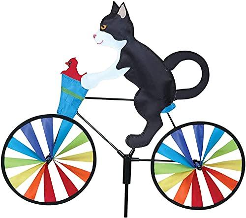 llxyzrzbhd Molinillo De Viento Jardin Molino De Viento Esculturas de Viento 3D Animal Riding Bike Wind Spinner Rainbow Wheel Adorno de Bicicleta de Dibujos Animados al Aire Libre 1013