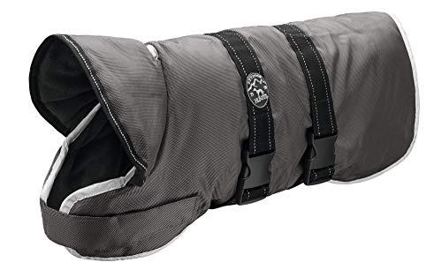 HUNTER Denali Reflect Hundemantel, Wintermantel, Fleecefutter, wasser- und windabweisend, reflektierend, 55, grau