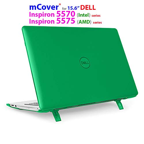 mCover Hard Shell Case for 15.6' Dell Inspiron 15 5570 (Intel) / 5575 (AMD) Laptop (NOT Compatible with Other Dell Inspiron 5000 Series Models) Laptop (Green)
