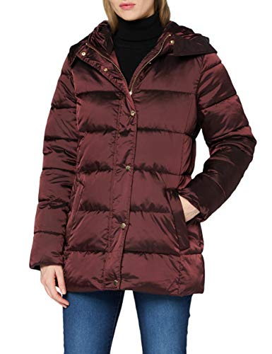 ESPRIT Collection Damen 090EO1G310 Jacke, 600/BORDEAUX RED, S