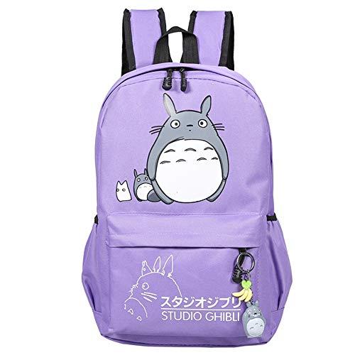 Totoro Zaini Zaino del computer portatile dei pantaloni a vita bassa di Daypack di viaggio del fumetto dello zaino casuale elegante della borsa di scuola Unisex