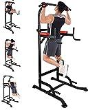 Power Tower, Tour de Musculation Multifonctions Barre de Traction, Pull-ups Entraîneur pour Abdominaux, Dos et Triceps, Gym Familiale, Entrainement Fitness