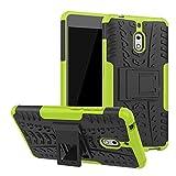 LFDZ Nokia 2.1 Hülle, Abdeckung Cover schutzhülle Tough Strong Rugged Shock Proof Heavy Duty Case Für Nokia 2.1 (Nicht für Nokia 2 2017),Grüne