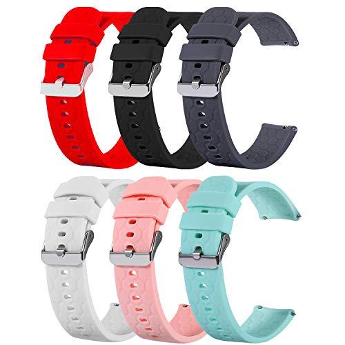 RuenTech Correa de repuesto compatible con Umidigi Uwatch3 GPS, pulsera de repuesto para Umidigi Uwatch3 GPS, reloj inteligente de repuesto, banda deportiva de silicona, accesorios