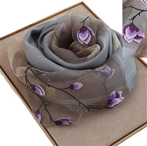 WEIGEER Silk Scarf Women Seidenschals Damen Shawl Satin Natural Pure Hijab Thin Masks Silk Cloth luxury Binder Senior Handmade Seidentuch Damen Lotus Scarf Beach Scarf Muslin 180 * 70CM