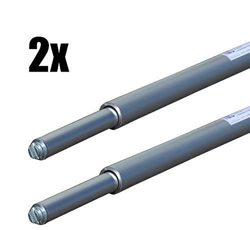 2 x Rundsperrbalken, Sperrstange, Klemmbalken, 2000-2400 mm, Kombizapfen 19/24mm