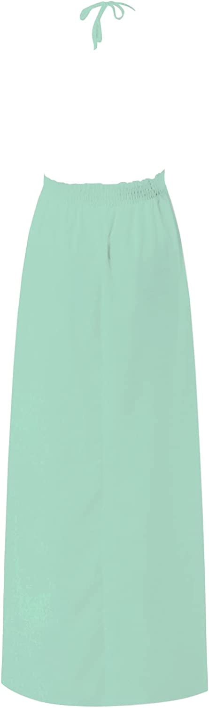 Spaghetti Strap Dresses for Women Summer Sexy Elegant Lace Beach Crochet Backless Bohemian Halter Long Maxi Dress