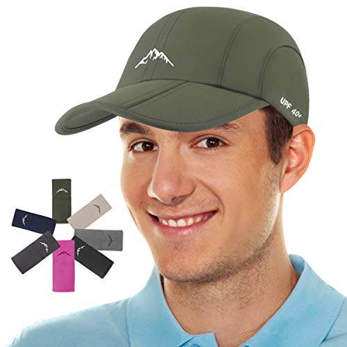 Sport Cap Summer Quick Drying Sun Hat UV Protection Outdoor Cap for Men, Women Army Green
