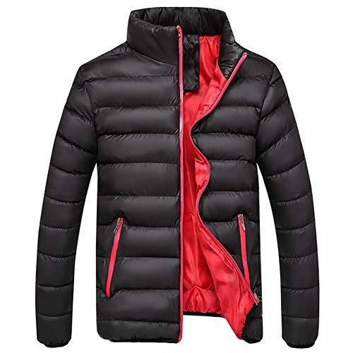 FRAUIT Herren Winterjacke Zipper Daunenjacken Stehkragen Mantel Männer Dinosaurier-Haut Sweatjacke Ubergangsjacke Jacke mit Stehkragen Outwear Tops M-4XL