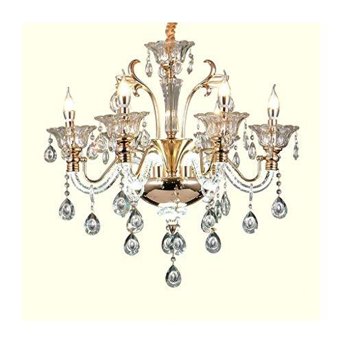 @ Kandelaar Europees glas kaarsen E14 plafondlamp woonkamer decoratie slaapkamer eettafel hanglamp [energieklasse A ]