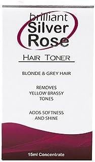 Brilliant Silver ROSE Hair Toner Blonde & Grey Hair It Works Like Magic 15 Ml Bottle