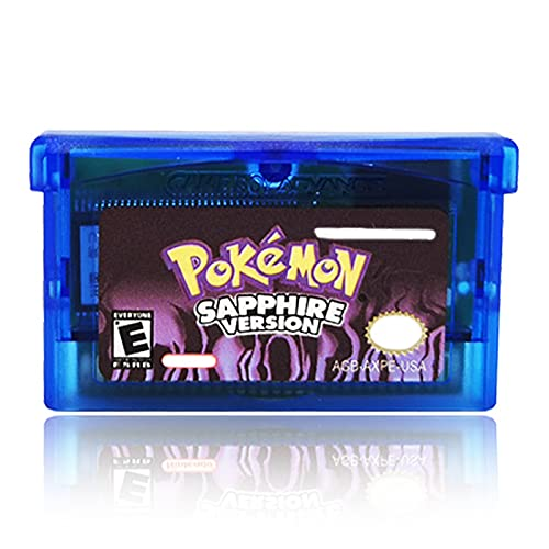 Game Cartridge Card Compatible for Pokemon Sapphire Gameboy GBA Game Cards US Version