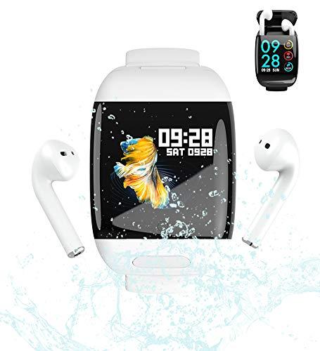 AZCSPFALB 2 en 1 Smartwatch, G36 Mujer Hombre Reloj Inteligente Pantalla a Color y 10-15 días en Espera Pulsera Actividad 400mAh Bluetooth Podómetro