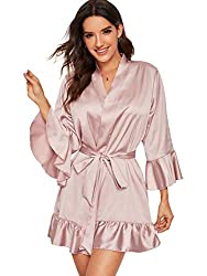 flouncy silk robe: bridesmaid gifts to make on your embroidery machine
