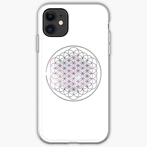 Langø Me Circle Flower BMTH Life Horizon 61 Bring | Custodia per Telefono per iPhone 11, iPhone 11 PRO, iPhone XR, iPhone 7/8 / SE 2020 - TPU Antiurto Interno Protettivo