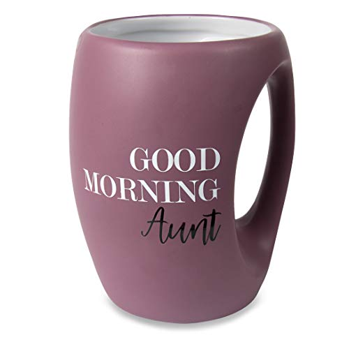 Pavilion Gift Company Good Morning Aunt 16 oz Mug, Purple