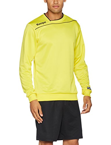Kempa Gold Training Top Trainingspullover gelb Kinder limonengelb-schwarz, 128