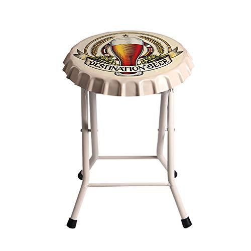Chairs Retro Klappstuhl für Loft Bar Western Restaurant Bierdeckel Eisenkunststuhl LI Jing Shop (Farbe : #-001, größe : 35X48cm)