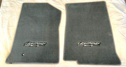 Lightning F150 Lloyd VELOURTEX Custom Floor MATS 99-04 Ford Compatible SVT F150 Lightning with Lightning Logo, Pair