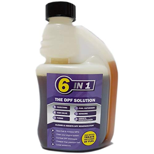 EEC 6 in 1 DPF Diesel Fuel System Solution EGR Valve Cleaner Solution 10 Shot