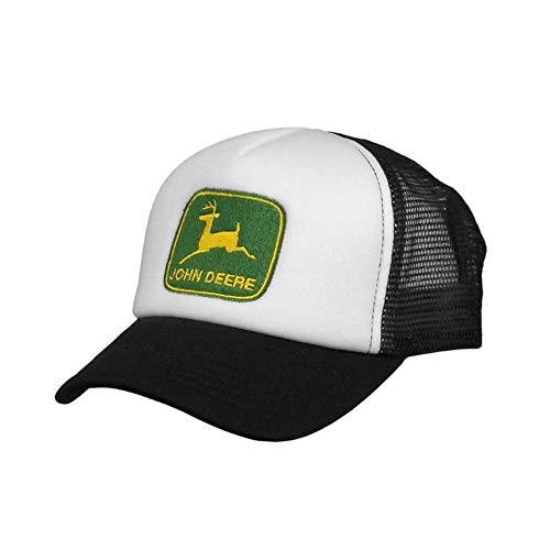John Deere Kids Foam Mesh Hat, White