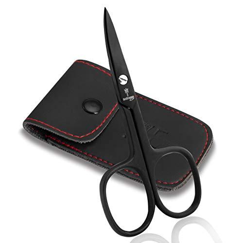 Schwertkrone Nagelschere schwarz Nagelhautschere Made in Germany mit Etui (Nagelschere)