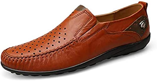 Qzny Lederschuhe Herrenschuhe Hohl Herrenschuhe Freizeitschuhe Bequeme Herrenschuhe Klassische Schuhe