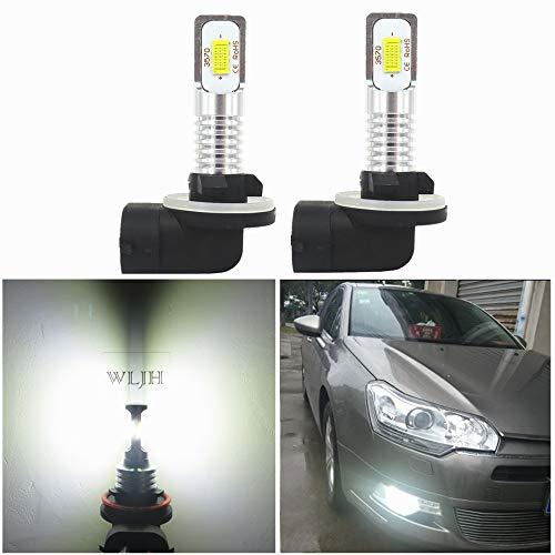 WLJH 2x Lighting 881 Fog LED lights 862 886 888 889 894 896 898, high power CSP-3570 chip for cars, DRL truck driving lights, H27 881, fog lamp, 6000K white